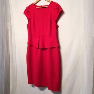 J. Crew Red Sheath Dress Size 12 Like New